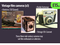 x4 vintage film cameras £15ea, or all for £49