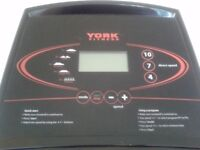 York Folding Electric Treadmill. Lubrication Kit. 8 mp/h max. 9 pre-set programmes. 3 inclines.