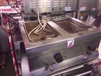 FASTFOOD COMMERCIAL CHIPS CATERING FRYER MACHINE FISH CHIPS RESTAURANT CAFE DINER SHOP TAKEAWAY