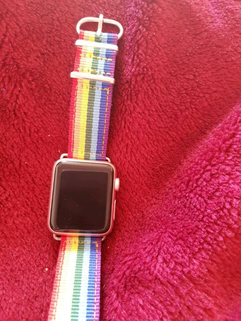 Apple watch 38mm rose goldin Belfast City Centre, BelfastGumtree - Apple watch in rose gold 38mm screenHave original box, charger, and rose gold strap or can have the rainbow one if required (rainbow strap £49 in apple store) Excellent condition, upgraded to series 2 is the only reason selling Collection only from...