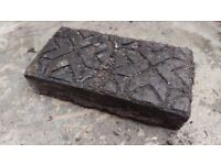 Reclaimed decorative block paving