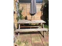 Garden table/bench pub style