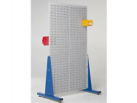 Double Sided Steel Louvre Panel Rack 2x1m - Warehouse Racking Linbins Storage Parts Boxes Shop