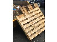 3 x large wooden pallets