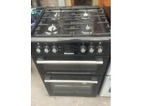 Black gas cooker..60cm Mint free delivery