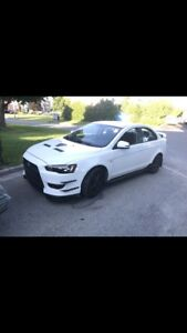 CUSTOM WHITE 2009 LANCER SE