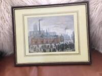 """Framed LS Lowry print """" The Accident"""""""