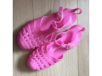 Pink Jelly Shoes size 6