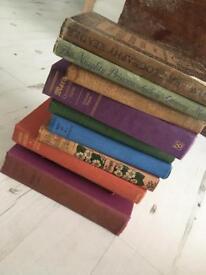 Job lot Antique books x 10