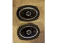 Fli 900 watt 4 way amp and 2 speakers.