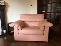James Houston's Glasgow high quality leather suite. 3 seater sofa, 2 seater sofa and single.