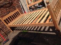 Single Wooden Bed Base Good Condition Can Deliver