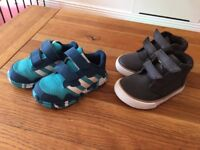 New Genuine Adidas and F&F infant Shoes size 5 and 5,5