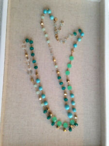 STELLA & DOT - Aileen Necklace (Green, Blue, Turquoise)