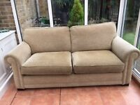 Nice sofa bed, two and a half seater. It is 2m wide, 0,95m depth and 0.95 height.