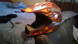 "Size ""M"" motorcross helmet"