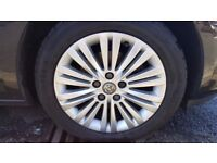ASTRA J 17 INCH ALLOYS , 5 X 115 PCD , 6 MM APPROX ON ALL TYRES, VERY GOOD CONDITION £275 ONO