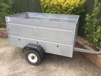 5ft x 3ft Galvanised Trailer + extension sides