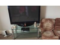 LG 50 inch plasma HD TV with TV stand
