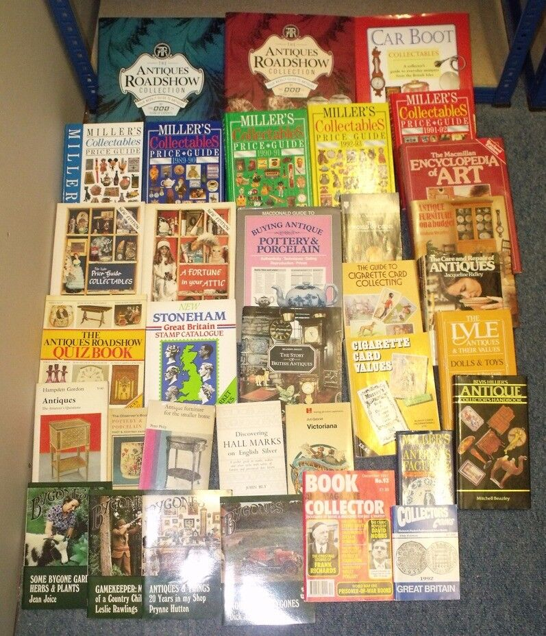 30+ Retro Collecting Books - Ranging from the generic 'Millers Collectables' to Specific Collections