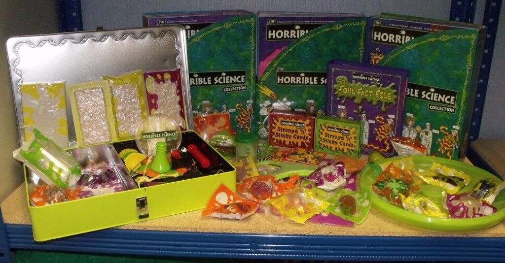 Horrible Science Collection - Complete Set including all the FREE items - Most packaged unused