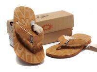 Original UGG 1647 Flip Flop Women Beige UK Size 5.5
