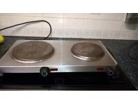 electric 2 hob plate good working order