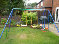 Garden Swing Set - 2 seater + See Saw