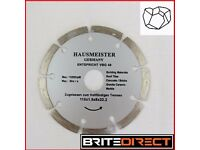 High Quality HAUSMEISTER German Diamond discs 115x22 for stone, concrete, clinker,granite building