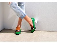 MUST SELL on trend patent leather loafer heels