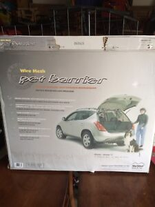 Pet barrier metal crate for suv