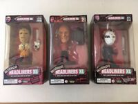Horror Headliners XL: 1999 Collection - Complete Set - Jason, Freddy, Leatherface