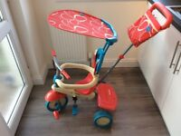 Kids red and blue trike (smart rice)