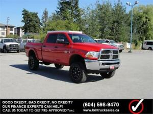 2012 DODGE RAM 2500 CREW CAB SHORT BOX 4X4 LEATHER LIFTED DIESEL