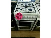 HOTPOINT 50CM GAS DOUBLE OVEN COOKER IN WHITE ☆BRAND NEW☆