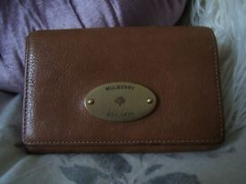 MULBERRY FRENCH PURSE IN OAK