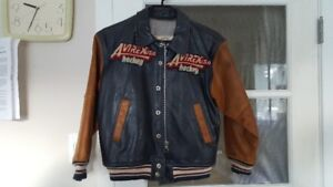 Avirex boys medium size leather jacket