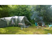 Outwell Hartford L 6 man tent, with groundsheet, front porch extension and carpet