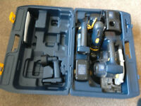 Set of cordless power tools.