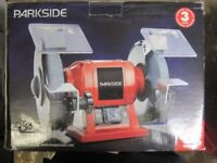PARKSIDE DOUBLE BENCH GRINDER 200W 2950RPM - BRAND NEW IN BOX