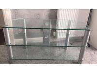 """Glass tv unit to fit tv upto 50"""" tv"""
