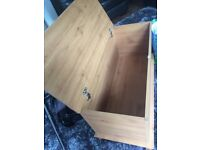 Pine look storage box