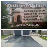 Lawn aeration and driveway sealing service