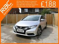 2015 Honda Civic 1.6 i-DTEC Turbo Diesel S 5 Door 6 Speed Bluetooth Climate Cont