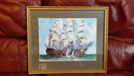 Framed painted picture by R W Donaghy
