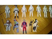 Vintage star wars toys, some with boxes
