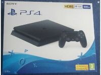 Sony PlayStation 4 PS4 500GB (black) console brand new and sealed