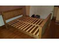 King size bed and mattress for sale - Only 6 months old