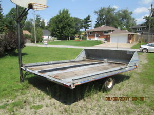 hyland snowmobile trailer 8x10