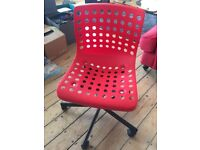 IKEA office chair, in red